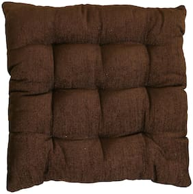 Story@Home Square Corduroy Chair Pad - 14x14;Brown