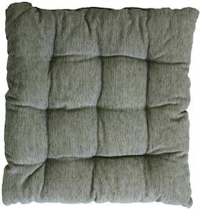 Story@Home Square Corduroy Chair Pad - 14x14;Grey