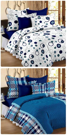 Story@Home Magic set of 2 Double Bedsheet with 4 pillow covers
