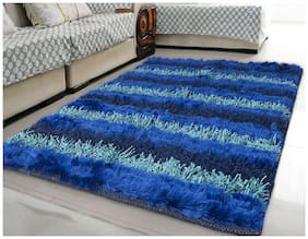 Story@Home Stripes 91 cm x 152 cm Blue 1 pc Carpet