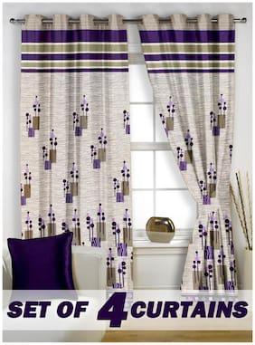 Story@Home Jacquard 4 pc Window curtain-5 feet (118 cm x 152 cm)