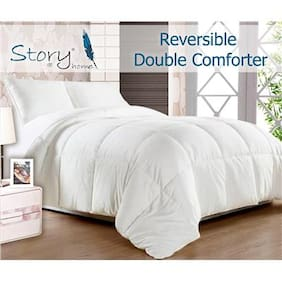 Story@Home White Reversible Double Comforter