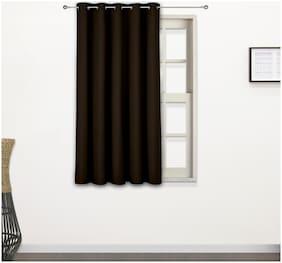 Story@Home 2 Pcs Faux Silk Blackout Window Curtain - 5ft