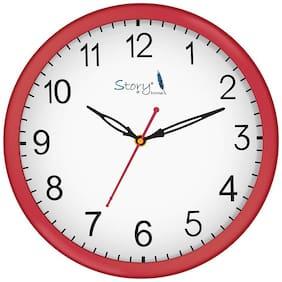 Story@Home Plastic Analog Wall clock ( Set of 1 )