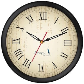 Story@Home Plastic Analog Wall clock ( Set of 1 )