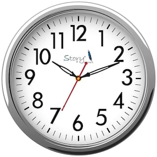 Story@Home Silver Wall clock