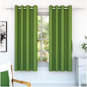 Storyhome Solid 2 Pc Window Curtains