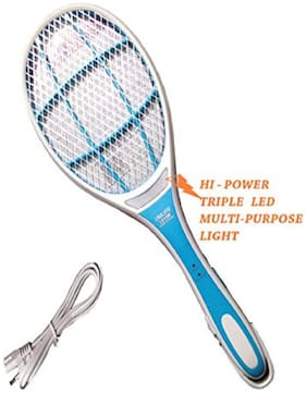 & Stream Mosquito Racket With Attached Led Light Assorted Color And Design