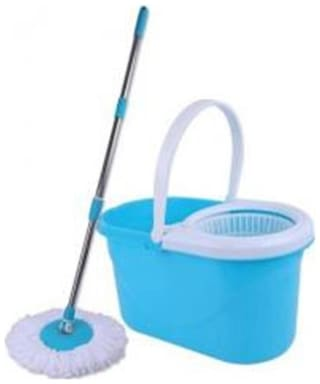 STRONG QUALITY ( 46*24*25 ) AMBE 360 Degree Spin Magic with plastic bucket, steel pole( 2 REFILS)