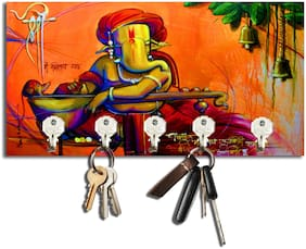 Studio Shubham Shree Ganesha Wooden Key Holder(22Cmx12Cmx3Cm)