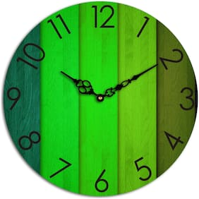 Studio shubham Wood Analog Wall clock ( Set of 1 )