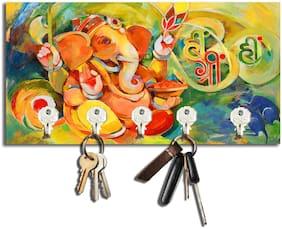 Studio Shubham Ganesh Ji Wooden Key Holder(22Cmx12Cmx3Cm)
