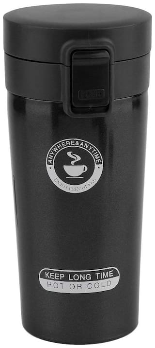 Style Homez Stax Tumbler Double Wall Stainless Steel Coffee Mug With Safety Lock Sipper 300 Ml
