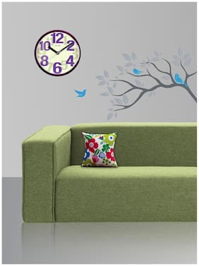 Style Homez Cotton Canvas Floral Printed Cushion Small Size with Fillers