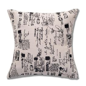 Style Homez Cotton Canvas Abstract Printed Cushion Small Size with Fillers