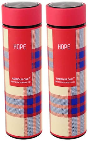 Style Homez Red Thermosteel flask ( 950 ml , Set of 2 )