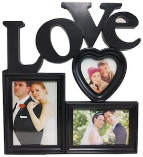 STYLEWELL Mdf with melamine Black Collage picture frame & Wall hanging ( Set of 1 )