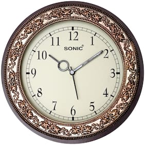 Dice Brown Wall clock