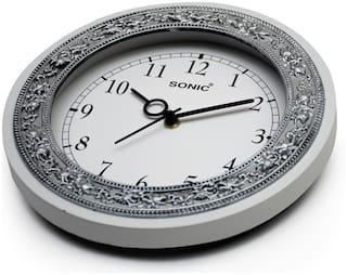 Stylish Analog Wall Clock-white