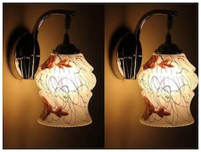 Stylish & Designer Colorful Sconce Glass Wall Lamp Ligh( Set of Two)Dx25