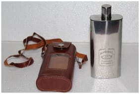 STYLISH STAINLESS STEEL 11 oz (325 ml) LIQUOR HIP FLASK- WHISKY/ WINES