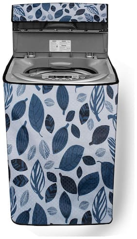 Stylista Top Load fully automatic Washing Machine cover for IFB 8 kg;8.5 kg;9 kg & 9.5 kg Ditzy Pattern Grey base