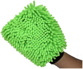 STYLS Single-Sided Microfiber Cleaning Gloves (Multicolor)