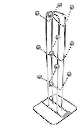 STYLS Stainless Steel Cup Stand -12 Holders , Silver