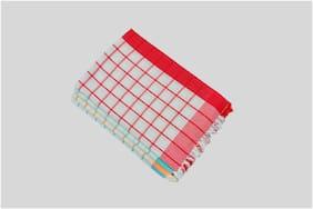 suam 180 GSM Cotton Bath Towel ( Pack of 4 , Assorted )