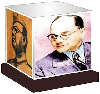 Subhash Chandra Bose LED Night Lamp Gift for all occasions Size 8 x 8 x 8