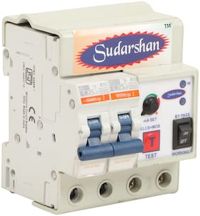 Sudarshan Single Phase 2 Pole Elcb + Rccb + Isi Marked Mcb 32 A With High Voltage;Overload Protection;Current 3 To 30 Ma (Shock Guard)