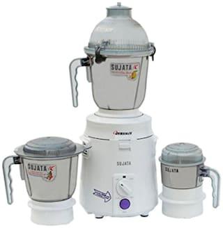 Sujata DYNAMIX 900 W Mixer Grinder ( White , 3 Jars )