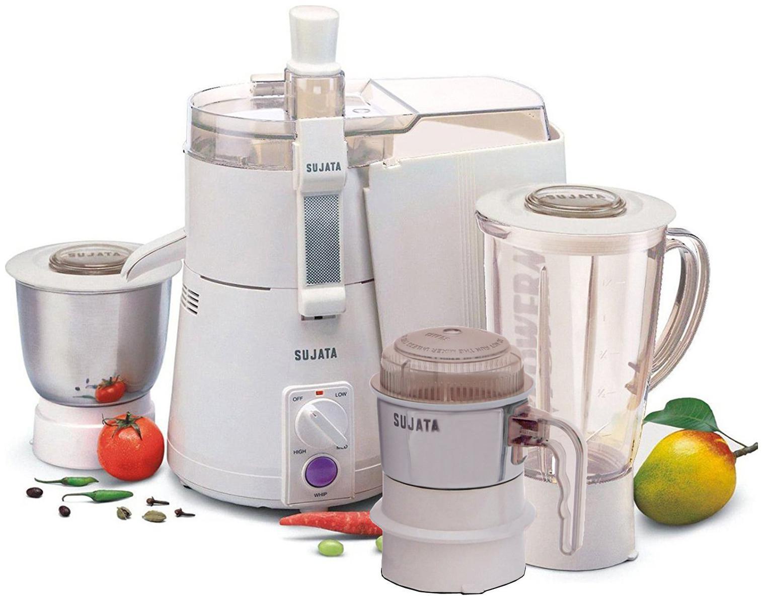 Sujata Powermatic Plus 900-Watt (With Chutney Jar) Juicer Mixer Grinder