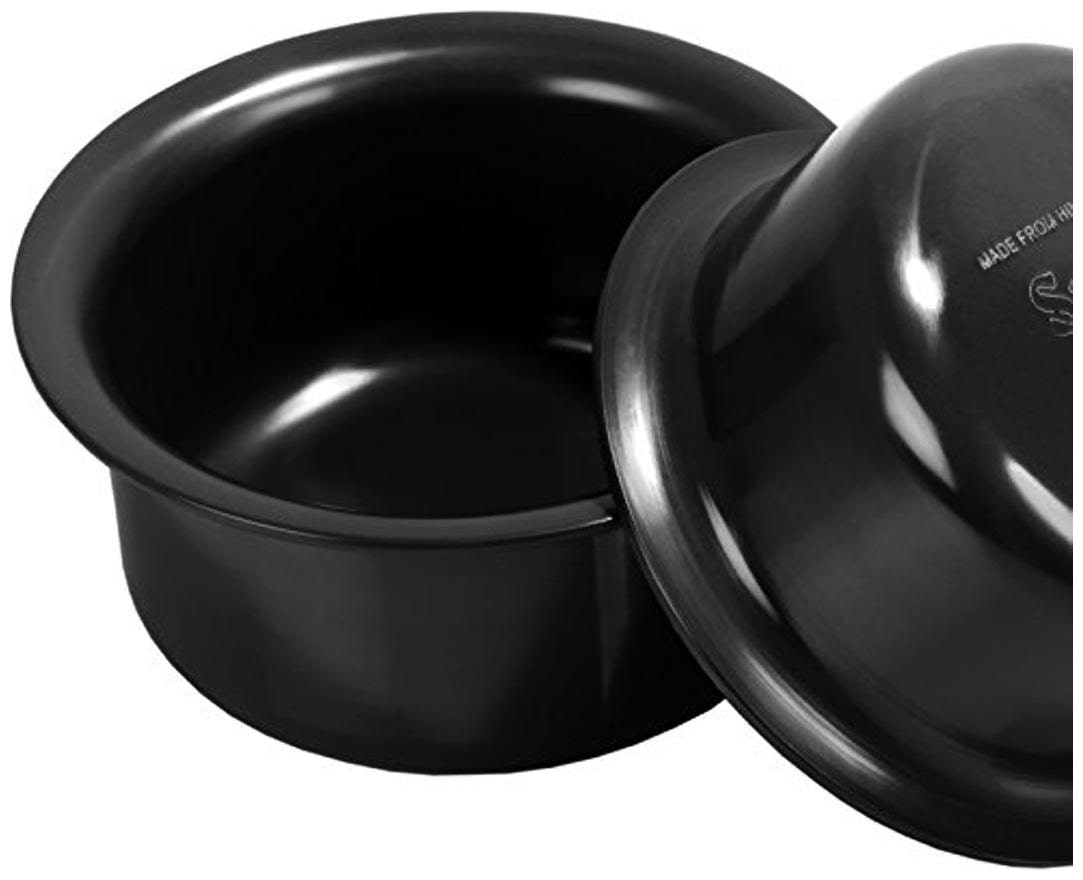 Sumeet 3mm Hard Anodised Tope  Pot  set of 2pc  No.12   No. 13  1.8Ltr.   2.3Ltr.
