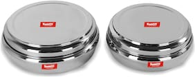 Sumeet 4500 ml Silver Stainless steel Container Set - Set of 4