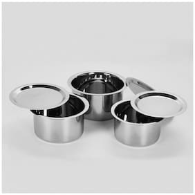 Sumeet 7.1 L With Lid Tope Induction Bottom ( Stainless Steel , Set of 6 )