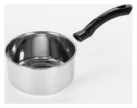 Sumeet Stainless Steel Induction & Gas Stove Friendly Saucepan / Cookware/ Container with Handle Size No. 11 ( 1.5 L)
