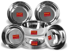 Sumeet Stainless Steel Heavy Gauge Bowl set / Wati set with Mirror Finish 10cm Dia - Set of 6pc