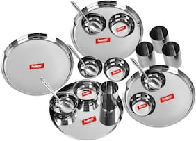 Sumeet Stainless steel Dinner Sets - Set of 20   Silver