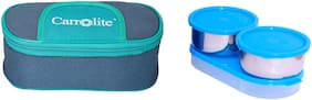 Carrolite 3 Containers Stainless steel Lunch Box - Blue
