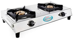 Sun Glain 2 Burner Regular Silver Gas Stove