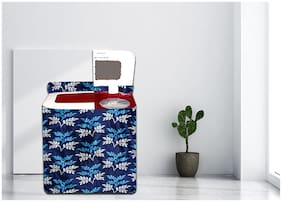 Sun Multiple Washing Machine Cover for Semi Automatic Washing Machine Compatible with Whirlpool Samsung LG (6Kg 6.5Kg 7Kg 7.5kg) (Blue Leaves)