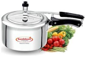 Sunblaze 1 L Inner Lid Pressure Cooker ( Silver , Aluminium , Set of 1 )