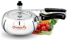 Sunblaze 2 L Inner Lid Pressure Cooker ( Silver , Aluminium , Set of 1 )