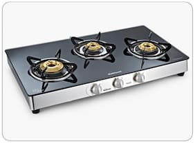 Sunflame 3 Burners Gas Stove - Silver