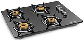 Sunflame 4 Burners Hob Top Gas Stove - Black , Auto Ignition