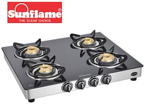 Sunflame 4 Burners Gas Stove - Silver