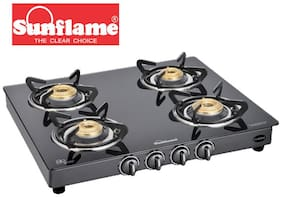 Sunflame Classic 4B 4 Burner Regular Black Gas Stove ,