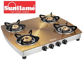 Sunflame 4 Burner Regular Silver Gas Stove