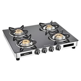 Sunflame Diamond 4 Burner Regular Assorted Gas Stove ,